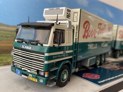 Tekno Tekno Scania 112H Rigid truck with trailer Booy Twello