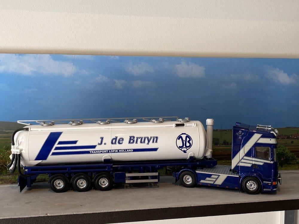 Tekno Tekno Scania R500 Topline met silo oplegger J. de Bruyn (BS-DD-75)