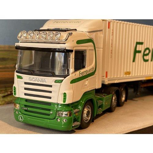 Tekno Tekno Scania R-Serie Highline met D-Tec Flexitrailer met 45ft. Container Ferroverde