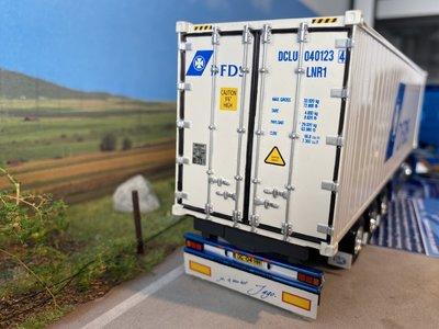 Tekno Tekno Scania 164L/480 met D-Tec Flexitrailer met 40ft. reefer Container Pikee
