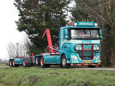 WSI WSI DAF XF 6x2 hooklift system rigid truck + container 15M3 Ben Achterkamp