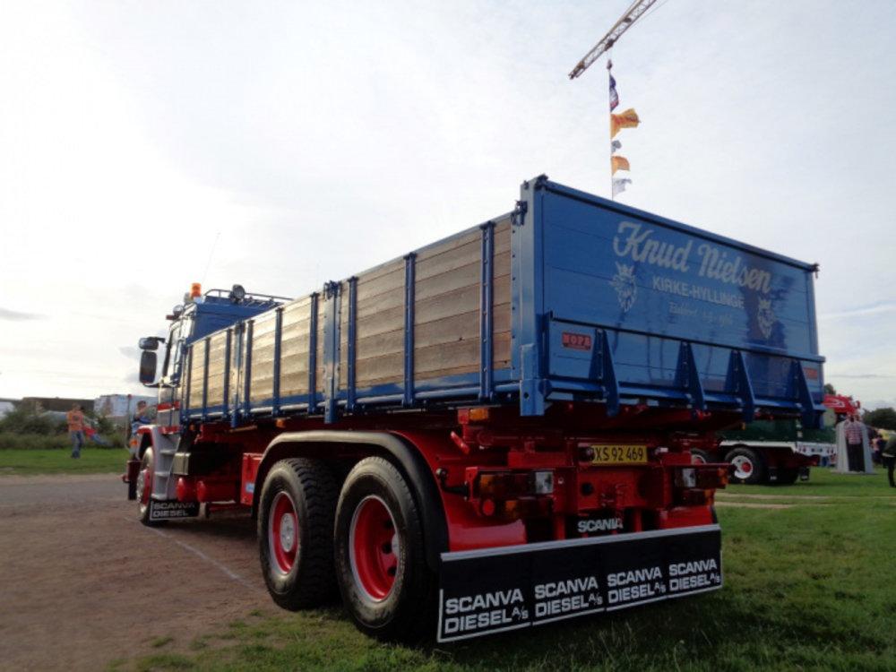 Tekno Tekno Scania 2-serie Torpedo met open laadbak Knud Nielsen