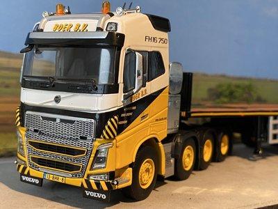 WSI WSI Volvo FH4 Globetrotter XL 8x4 + 6-axle ballast trailer Boer Kranen
