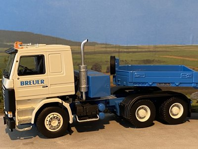 IMC IMC Scania R143 6x4 with Goldhofer 4 axle semi low loader Breuer