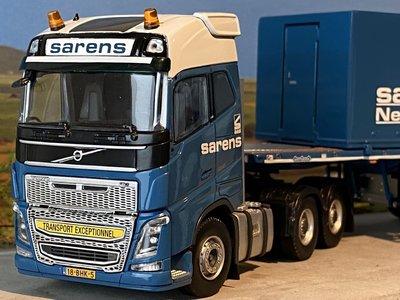 Sarens store IMC Volvo FH4 Glob 6x4 with Nooteboom ballast trailers Sarens
