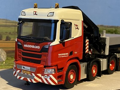 WSI WSI SCANIA R 8x2 met palfinger + ballast box Wagenborg