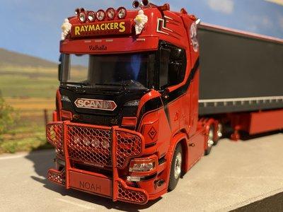 WSI WSI Scania S 6x2 met schuifzeilen oplegger Raymackers