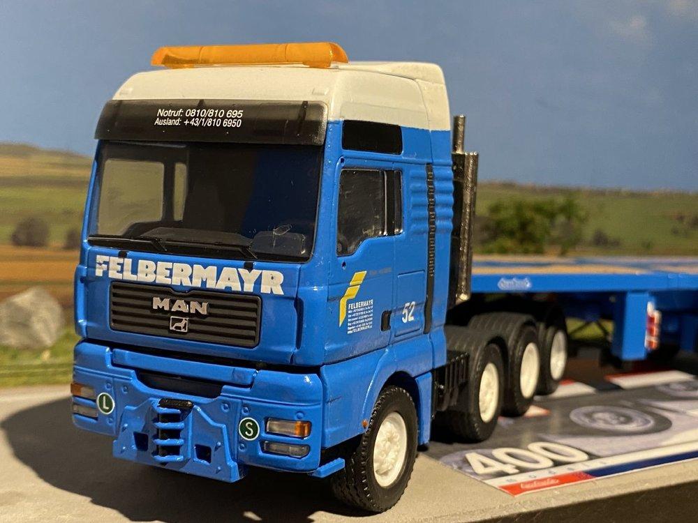 Conrad Modelle Conrad MAN TGA 4-axle with Telestep Nooteboom Felbermayer
