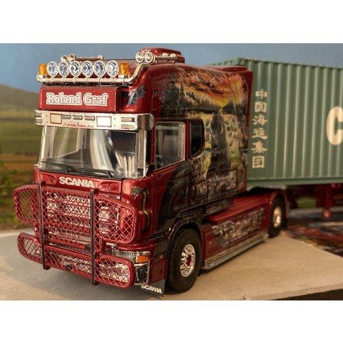 Tekno Tekno Scania 4-serie Longline met container trailer met 40ft. Container Roland Graf