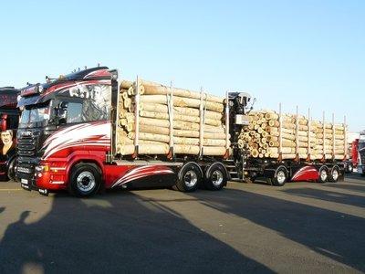 Tekno Tekno Scania R-serie Highline houtwagen combi  Lalanne