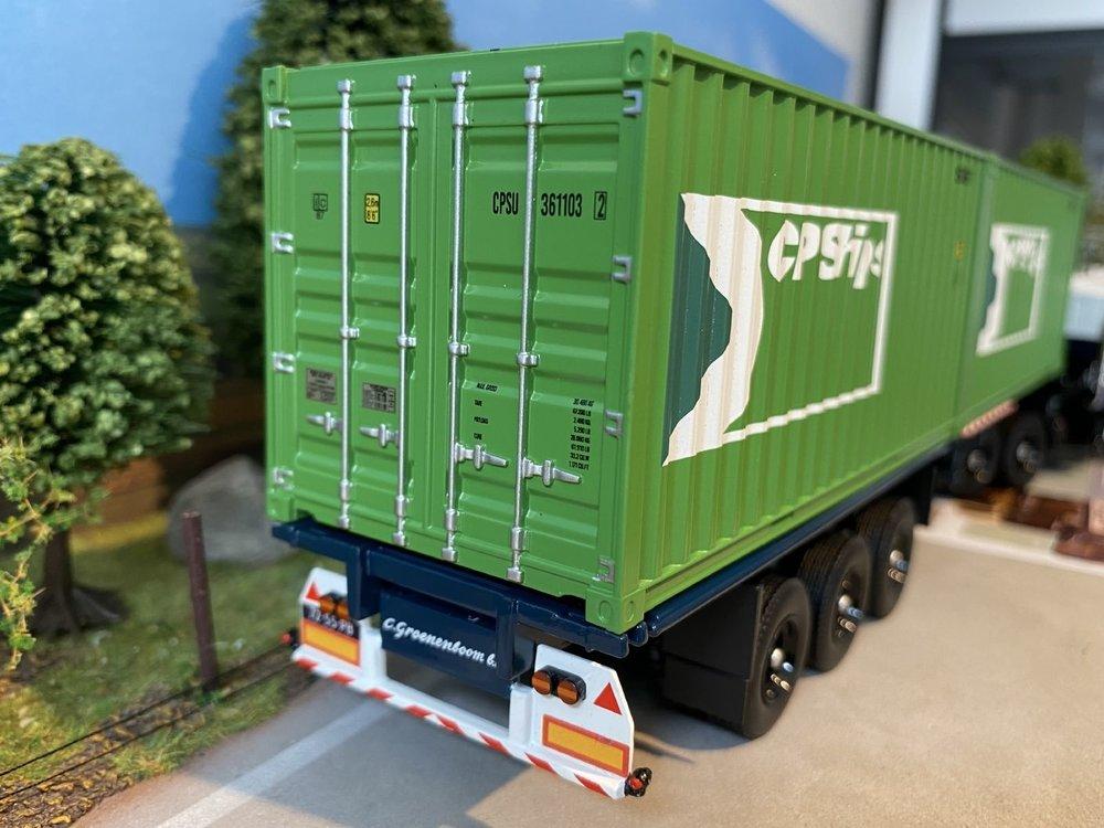 Tekno Tekno Mack F700 met klassiek container chassis met 2x 20ft container Groenenboom