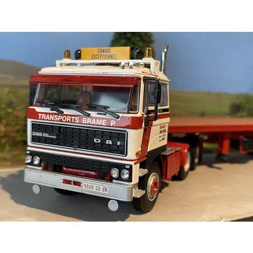 WSI WSI DAF 3300 6x4 flatbed trailer - classic 3 axle P. Brame