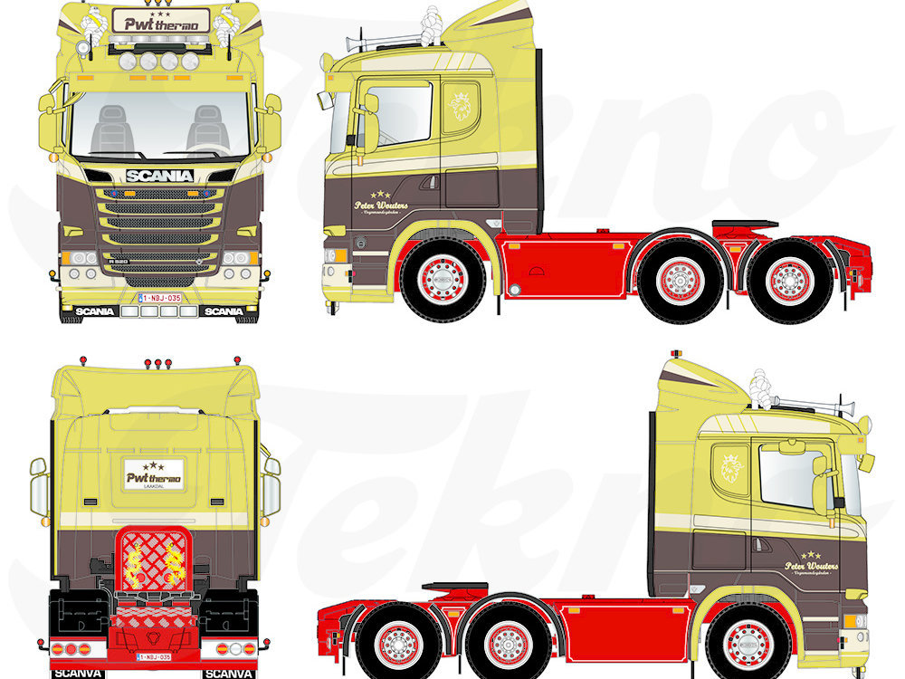 Tekno Tekno Scania R520 sleeper Peter Wouters Transport PWT