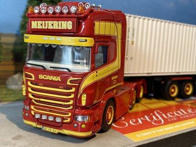Tekno Tekno Scania R Topline D-tec container chassis Meijering