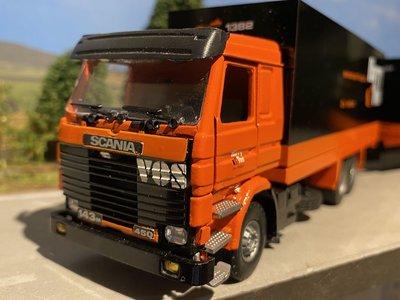 Tekno Tekno Scania 143M/450 6x2 Voorwagen met 2 as wipkar Gesl.kombi Vos Logistics