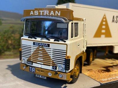 Tekno Tekno Scania 140 met 2-assige freuhauf oplegger Astran