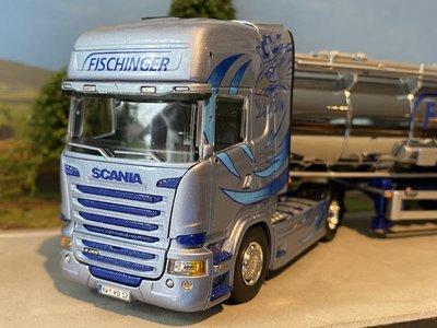 Tekno Tekno Scania R-Streamline Topline met tankoplegger Fischinger