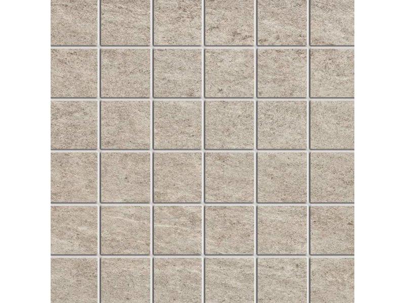 McTile Fidenza Feinsteinzeug Mosaik 0505320N Kiesel (5x5), rektifiziert / R10B - 30x30cm