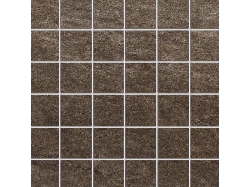 McTile Fidenza Feinsteinzeug Mosaik 0505323N Basalt (5x5), rektifiziert / R10B - 30x30cm