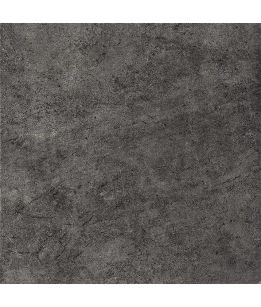 Teramo Feinsteinzeug Bodenfliesen 3333117N Schwarz / R9 - 33x33cm