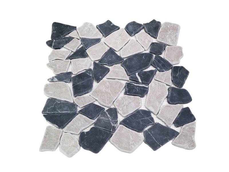 BÄRWOLF Natursteinfliesen RM-0005 Crush black & grey