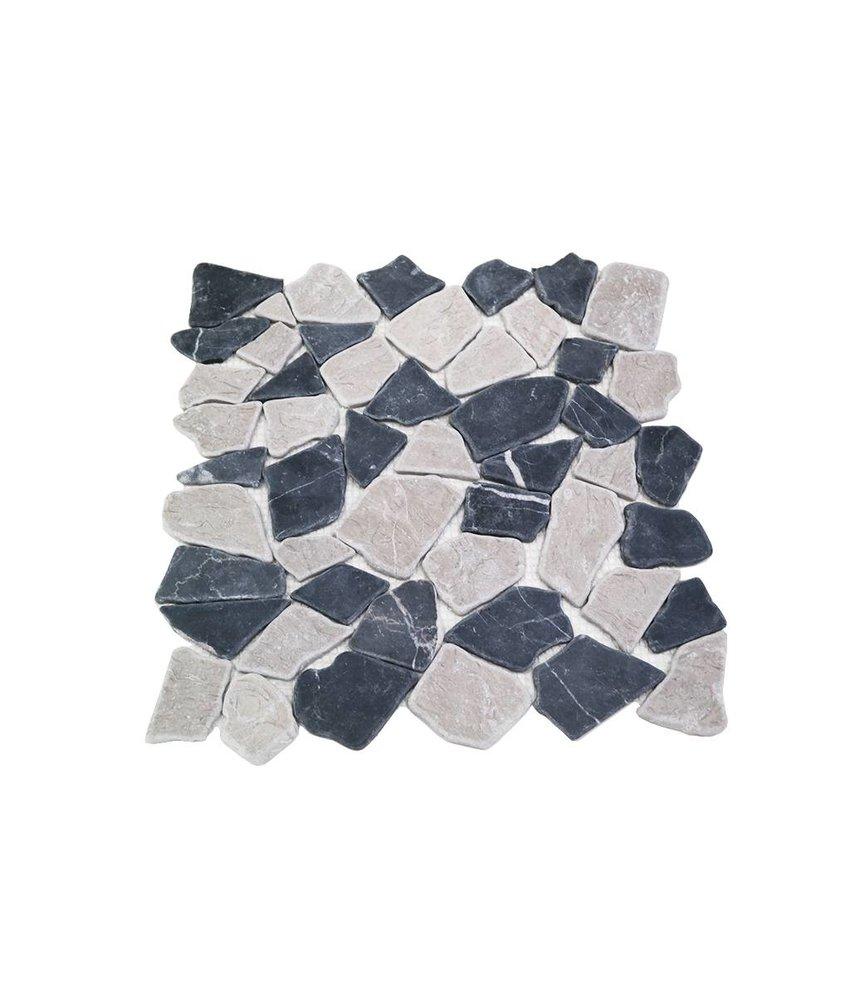 Natursteinfliesen RM-0005 Crush black & grey