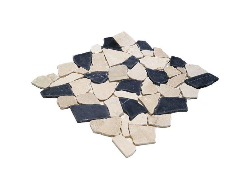 BÄRWOLF Natursteinfliese RM-0004 Crush black & white