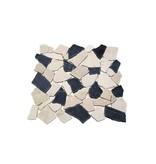 BÄRWOLF Natursteinfliesen RM-0004 Crush black & white