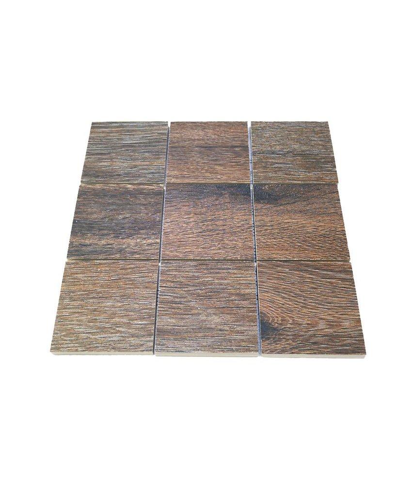 Keramik Mosaikfliesen KEG-14034 Wood eichenholz-farben