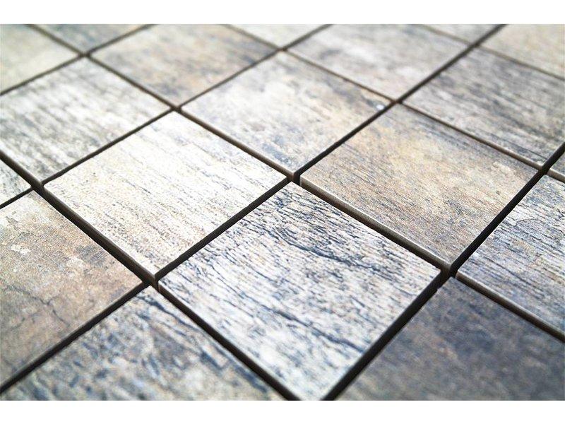 BÄRWOLF Keramik Mosaikfliesen KEG-14013 Vintage grau