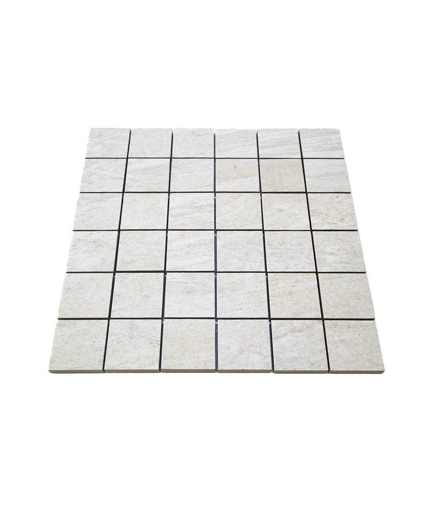 Keramik Mosaikfliesen KEG-14011 Stone quarzite white