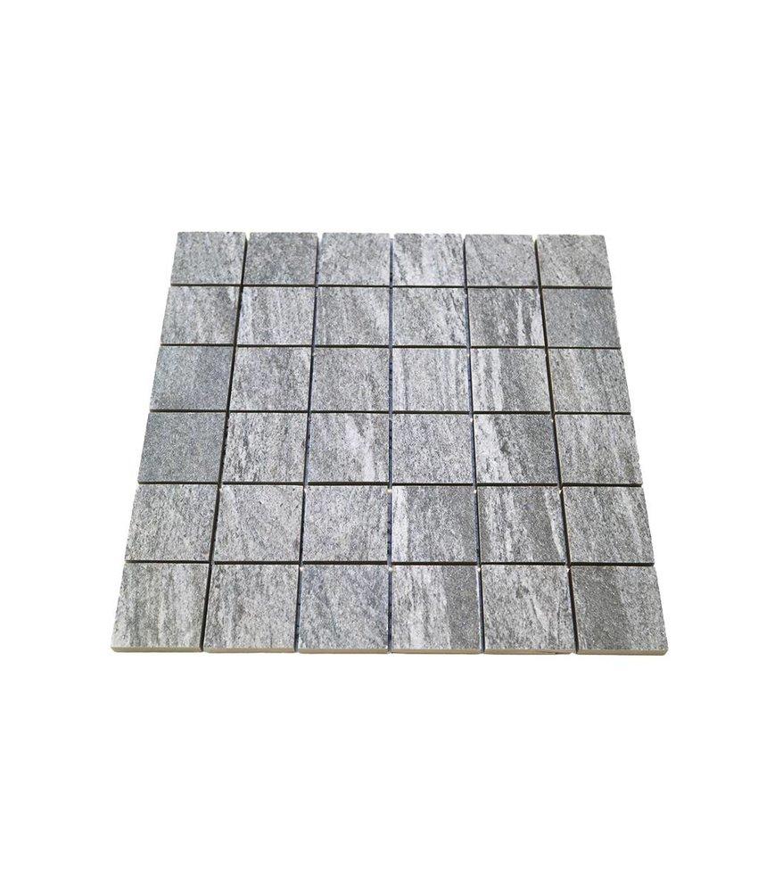 Keramik Mosaikfliesen KEG-14010 Stone quarzite grau