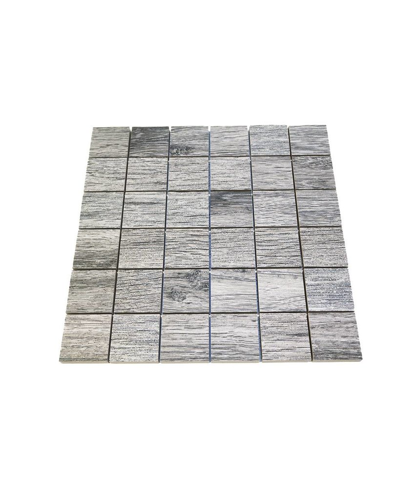 Keramik Mosaikfliesen KEG-14008 oak grey