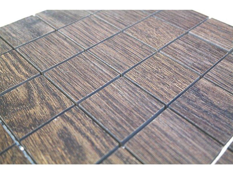 BÄRWOLF Keramik Mosaikfliesen KEG-14004 oak brown