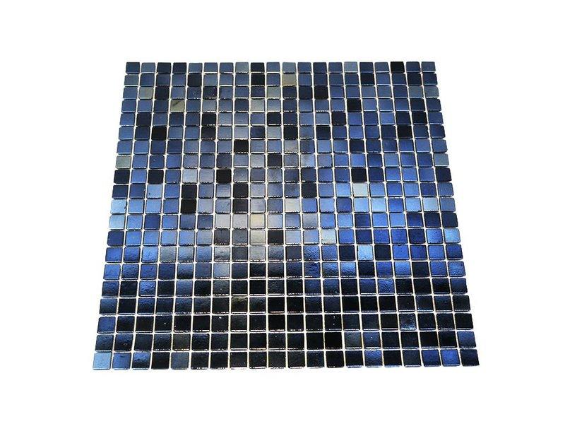 BÄRWOLF Glasmosaik-Fliesen GL-K24 reflex black