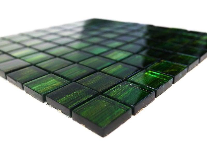 BÄRWOLF Glasmosaik-Fliesen GL-13001 emerald green