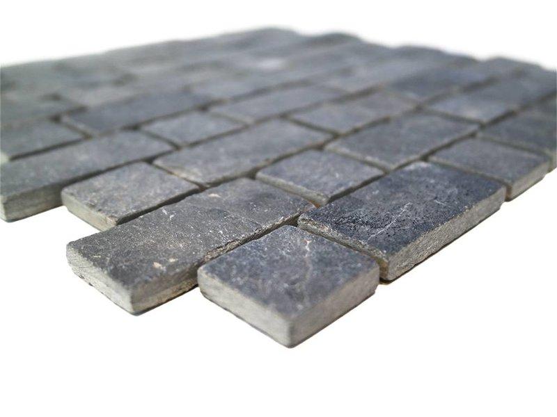 BÄRWOLF Naturstein Mosaikfliesen CM-7117 dark grey