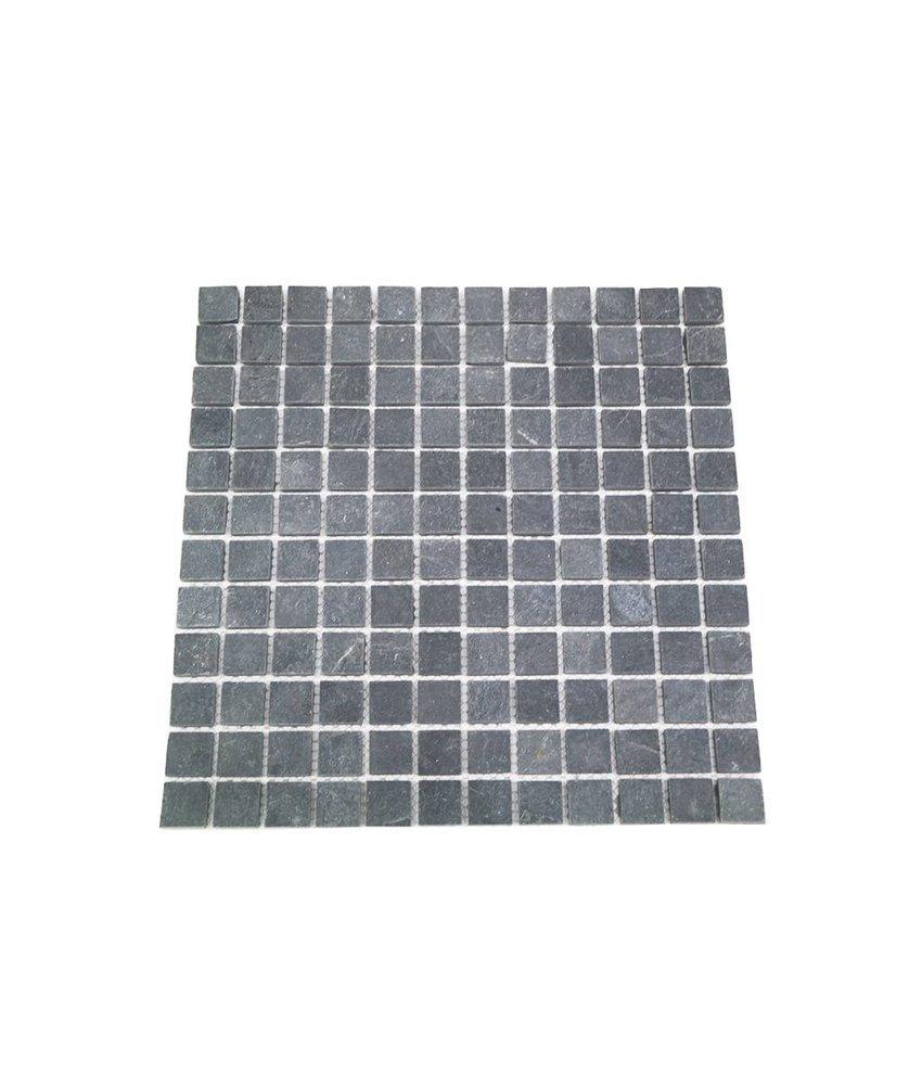 Naturstein Mosaikfliese CM-7114 dark grey