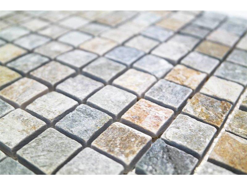 BÄRWOLF Naturstein Mosaikfliesen CM-7110 light rustic