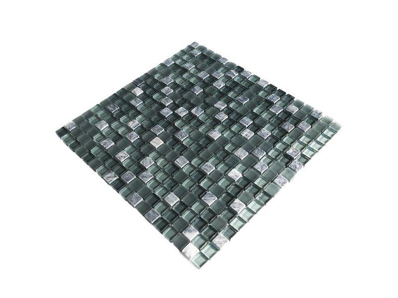 MOSAIKFLIESEN - grau mix - G105