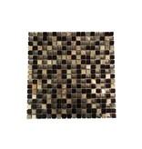 MOSAIKFLIESEN - Glas / Naturstein / Edelstahl - silber / braun mix - G109