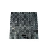 GLASMOSAIK FLIESEN - grau / schwarz / perlmutt - G2323