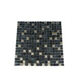 MOSAIKFLIESEN - silber / grau / schwarz / perlmutt - GS003