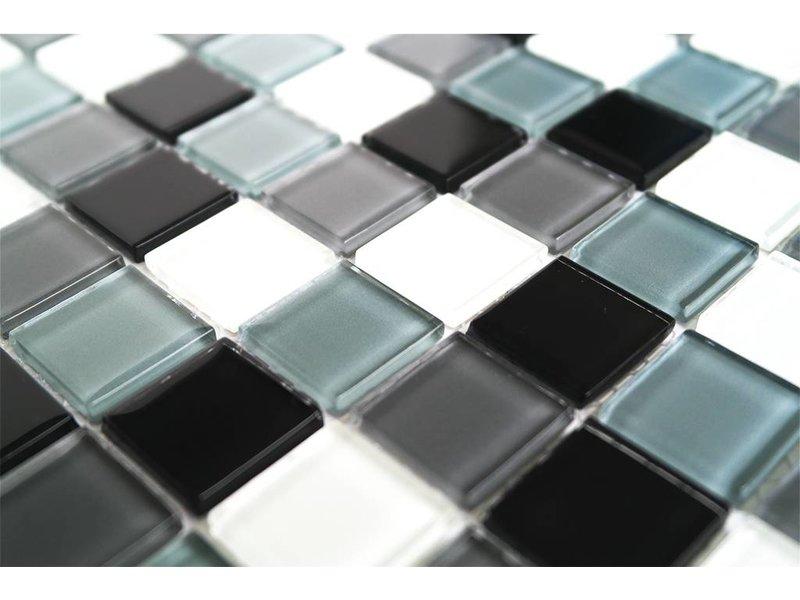 Glasmosaik Fliesen Weiss Mix