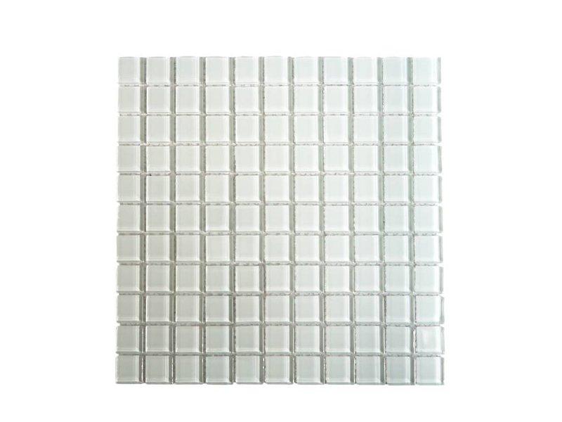 GLASMOSAIK FLIESEN - weiß uni - KR11