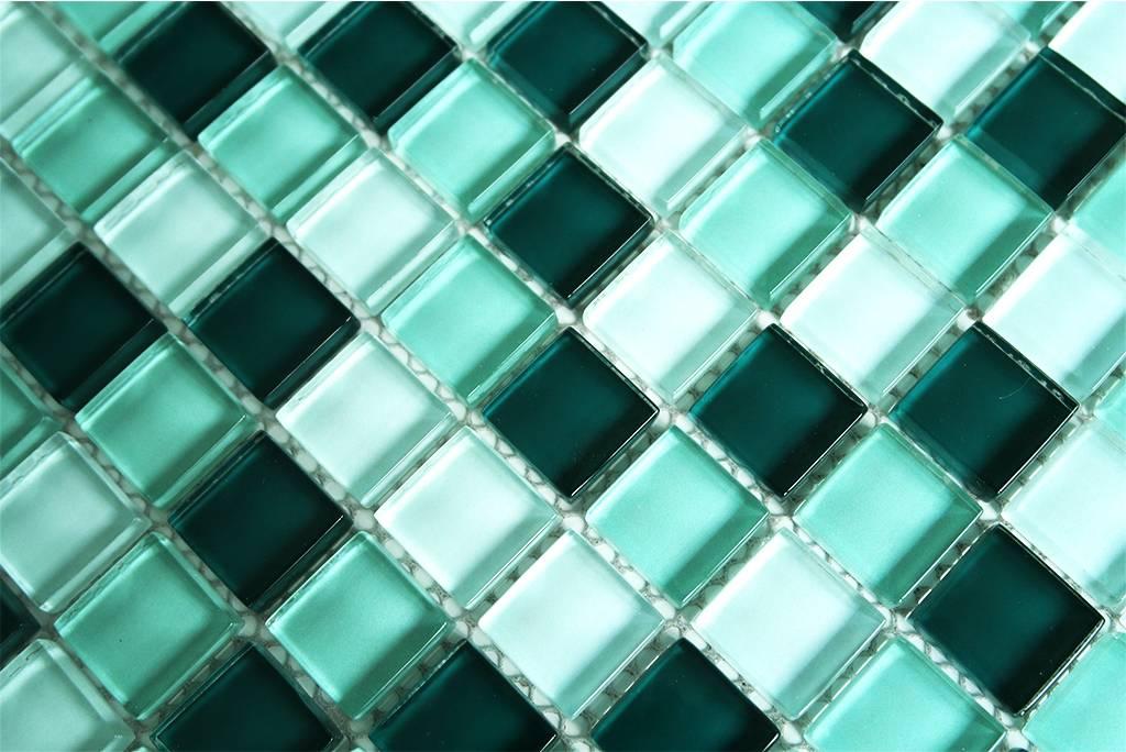 Glasmosaik Fliesen Weiss Grun Mix Mosaic Outlet