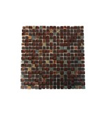MOSAIKFLIESEN - Naturstein / Glasmosaik - braun mix / glitzer - MOT25