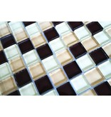 GLASMOSAIK FLIESEN - braun / beige mix - G006