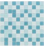 Glasmosaik türkis mix, glänzend - 30x30cm