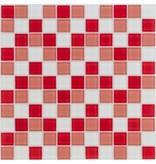 Glasmosaik rot weiß, glänzend - 30x30cm